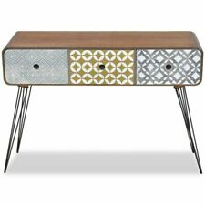 vidaXL 242240 Console Table with 3 Drawers - Brown