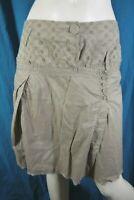 I.CODE Par IKKS Taille  38 superbe jupe doublée beige en coton skirt falda rock