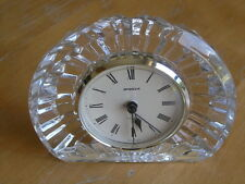 Vintage Staiger Mantle Clock with Cut Crystal Case and Quartz Movement