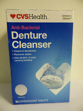 CVS Health Anti-Bacterial DENTURE CLEANSER  90 Effervescent Tablets EXP:8/21