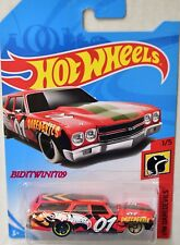 HOT WHEELS 2018 HW DAREDEVILS '70 CHEVELLE SS WAGON RED