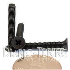 M3 x 20mm - Qty 10 - DIN 965 Phillips FLAT HEAD Machine Screw Black Ox - Type H