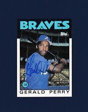 Gerald Perry signed Atlanta Braves 1986 Topps baseball card