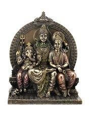 Figur indische Götter Shiva Parvati und Ganesha bronziert Hinduismus Statue Indien