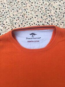 ORVIS - Orange - Premium Cotton - Crew Neck - Long Sleeve - Jumper - M