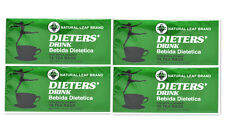 4 Boxes of Dieters' Drink Bebida Dietetica Natural Leaf Brand Dieters 72 Tea Bag