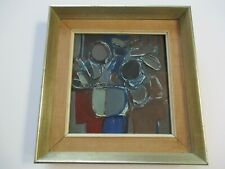 VINTAGE RON  KING PAINTING MODERNIST STILL LIFE FLORAL ABSTRACT  EXPRESSIONIST