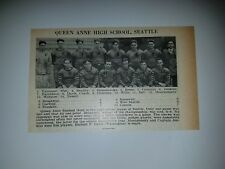 Quenn Anne Seattle & Sunnyside High School Washington 1927 Football Team Picture