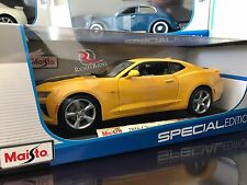 **SALE** Maisto 1:18 Scale Diecast Model Car - 2016 Chevrolet Camaro SS (Yellow)