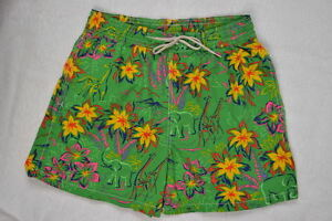 Ralph Lauren Men Green Hawaiian Print Swim Short Trunks -NWT- XLarge