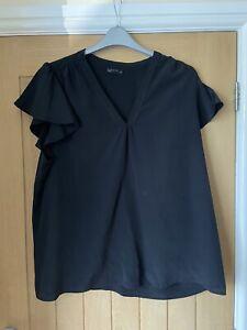 Ladies Womens Size 20 Papaya Black Smart Blouse Top Workwear
