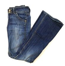 Hudson Women's Jeans Boot Cut Triangle Flap Pockets Size 25 Med Wash Distressed