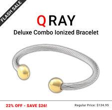Q-Ray Deluxe Combo Ionized Energy Healing Bracelet