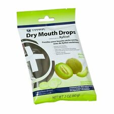 5 Pack Hager Pharma Dry Mouth Drops Xylitol Melon Sugarless Drops 2 Oz Each