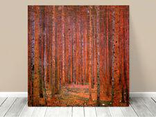 "Stunning Classic Art ~ Red Forest by Gustav Klimt ~ CANVAS PRINT 12x12"""