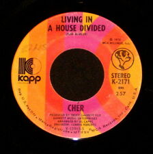 "CHER ""LIVING IN A HOUSE DIVIDED/One Honest Man"" KAPP 2171 (1972) 45rpm SINGLE"