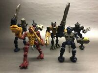 "Lego Bionicles 4"" Action Figures Happy Meal Lot 6pc Toy Lego McDonalds 2006"