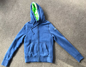 Abercrombie And Fitch Fleece Hoodie Jacket With Lightweight Puffer Liner