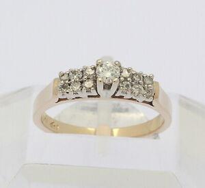 Ring in 14 kt 14k 585er Gelb Gold mit Brillanten Brillant Diamanten Brillantring