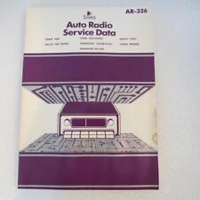 Sams AR-326 Auto Radio Service Data 1981 1st Edition Description has Models