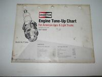 1977 CHAMPION ENGINE TUNE UP CHART FOR AMERICAN CARS & LIGHT TRUCKS MANUAL