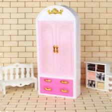 New Pink Closet Wardrobe For Barbie Doll Girls Toy Princess Bedroom Furniture