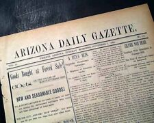 1893 Newspaper Rare 19th Century PHOENIX AZ Maricopa County ARIZONA Territory