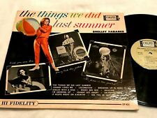 SHELLEY FABARES The Things We Did Last Summer LP orig MONO COLPIX teen