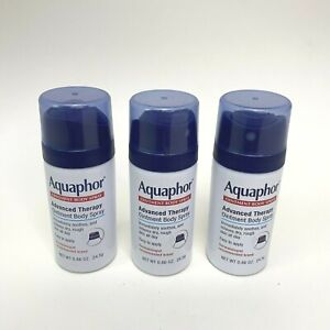 (3) Aquaphor Ointment Body Spray-Advanced Therapy-Hypoallergenic Travel Size Set