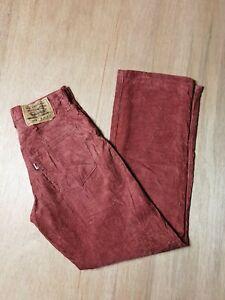 Vintage Levi's 508 Maroon Corduroy Size W26 L30 Jeans Trouser Pants