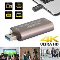 USB 3.0 Video Capture Card 4K 1080p HD HDMI Recorder Game Video Live Streaming A