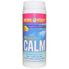 Natural Vitality Magnesium Drink Organic Raspberry Lemon Flavor