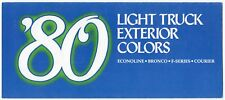 1980 FORD LIGHT TRUCK Paint Chips BRONCO, F-Series, ECONOLINE, COURIER, TU-TONES