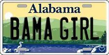 Bama Girl Alabama Background Novelty Metal License Plate