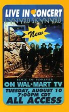 LYNYRD SKYNYRD 1999 'Edge of Forever' All Access Wal-Mart TV Promo Pass