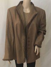 ESCADA blazer/ jacket, with mink hem line