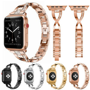 Stainless Steel Wrist Band Strap for Apple Watch Series 4/3 38 40 44mm Bracelet