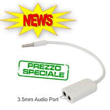 SDOPPIATORE SPLITTER AURICOLARE AUDIO JACK 3,5mm CAVO SAMSUNG IPHONE NOKIA MP3