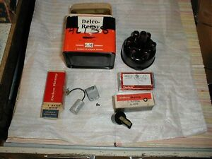 NOS DELCO TUNE UP KIT 1950-9 PLYMOUTH DODGE DESOTO CHRYSLER 6 CYLINDER MODELS
