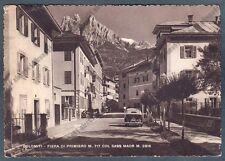 TRENTO FIERA DI PRIMIERO 12 AUTOMOBILE d'EPOCA Cartolina viaggiata 1956 PIEGA !!