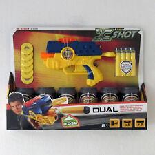 Zuru X Shot Dual - Gun Shoots Darts & Discs - Practice Cans Included NIB Excel