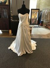 Impression Bridal NWT Satin Strapless A-Line Wedding Dress Size 16