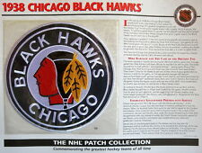 1938 CHICAGO BLACK HAWKS Willabee Ward NHL THROWBACK HOCKEY TEAM LOGO PATCH Card