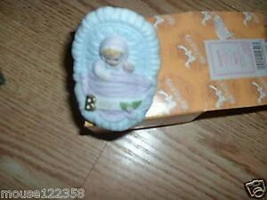 Enesco Growing Up Baby in Cradle w box