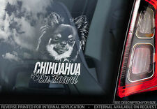 Chihuahua - Car Window Sticker - Dog Sign -V06