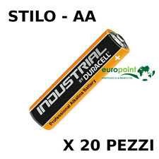 Stock 20 batterie Duracell Industrial Procell pile Alcaline Stilo AA LR6