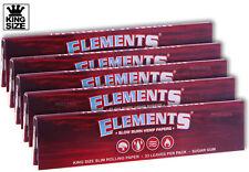 ELEMENTS RED (5PK) BUNDLE Slow-Burn Hemp KING Size Rolling Papers + AUTHENTIC +
