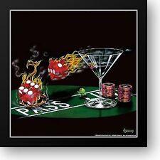 Michael Godard Big Slick Framed 15x15 Poker Chips