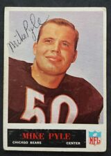Mike Pyle Chicago Bears 1965 Phil Gum # 24 Autographed Football Card