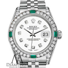 Rolex Datejust 26mm Stainless Steel White Color Diamond Dial & Emerald Watch